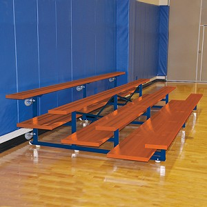 Tip & Roll Bleachers (21' Double Foot Plank - 4 Row - Powder Coated)