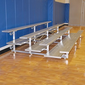 Bleacher - 15' (4 Row - Double Foot Plank) -Tip & Roll