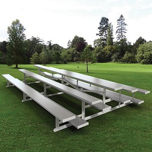 Back-to-Back Bleachers (15' Single Foot Plank - 3 Row)