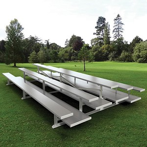 Bleacher - 7-1/2' (3 Row - Double Foot Plank) - Back-To-Back