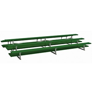 Back-to-Back Bleachers (7-1/2' Double Foot Plank -3 Row - Powder Coated)