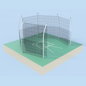 Discus Cage (w/ Cage Net & Barrier Net - No Sleeves)