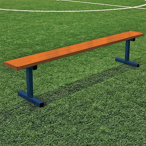 Player Bench (15' w/o Seat Back - In-Ground Installation - Powder Coated)