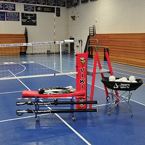 "FeatherLite™ Volleyball System Deluxe Package (3"" Floor Sleeve) - NFHS, NCAA, USVBA Compliant"