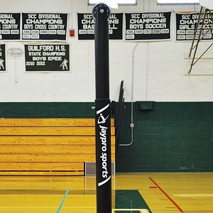 "Carbon Ultralite° Volleyball System (3"" Floor Sleeve) - NFHS, NCAA, USVBA Compliant"