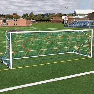 Soccer Goals - Nova™ Premier Adjustable Goal Package (8'H x 24'W x 4'B x 10'D) - ASTM Compliant