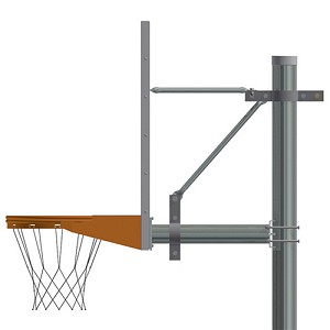 "5-9/16"" Straight Post (w/ Perf Steel Board - Playground Goal)"