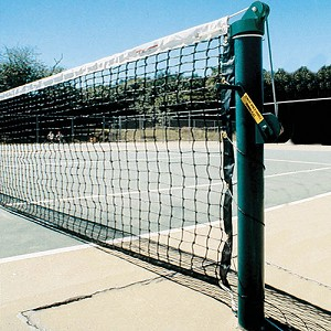 "Tennis Posts - (3-1/2"" Post) (Outdoor) - Heavy-Duty Upright (Round) (Green)"