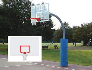 "Ultimate Adjustable Gooseneck  (Steel Backboard - 72"" x 42"")"