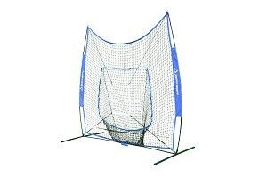 Pitching Screen - Pitching & Soft Toss - Portable with Storage Bag (7'H x 7'W)