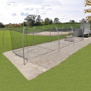 Professional Outdoor Batting Tunnel Frame - Single (70')