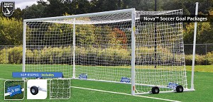 Soccer Goals - Nova™ World Cup Goal Package (8'H x 24'W x 7'B x 8'D) - NFHS, NCAA, FIFA Compliant